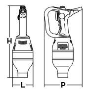 Ingombri Frullatore A Immersione Professionale URAGANO 750