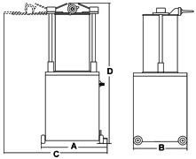 Poussoir Hydraulique À Saucisses Électrique Vertical 24 Lt