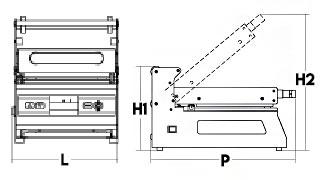 Food Tray Sealing Machine Max Size 260 x 190 mm