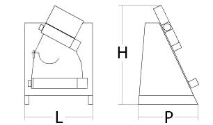 dimensioni stendipizza monorullo verticale chefline CHDLR32A