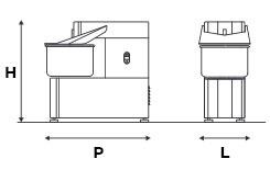 Commercial Fixed Head Spiral Dough Mixer 6 Kg / 7 Lt