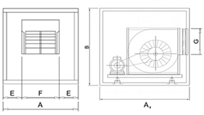 Three-phase Motor for Extractor Hood  with Belt Transmission