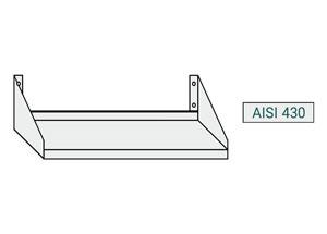 ChefLine - tipologia acciaio inox mensole