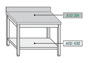 ChefLine - tipologia acciaio inox tavoli su gambe